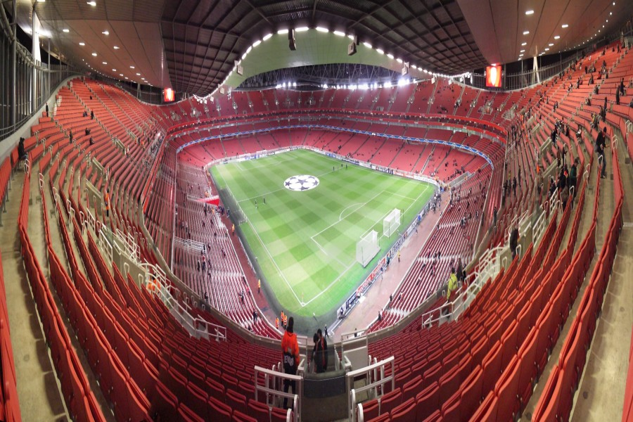 Vista superior del estadio del Arsenal
