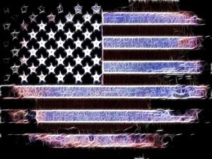 Bandera americana abstracta