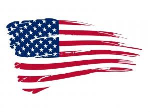 Pintando la bandera de Estados Unidos