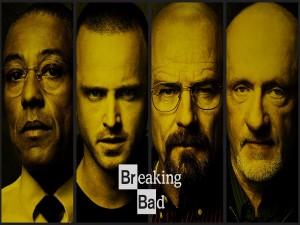 Cuatro personajes de Breaking Bad
