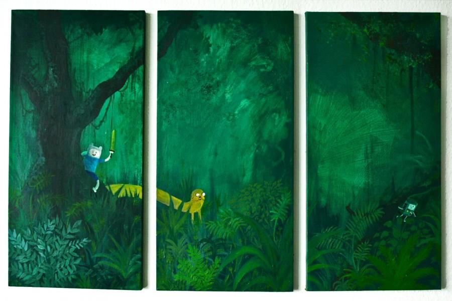 """Finn y Jake en el bosque """"Adventure Time"""""""
