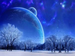 Un hermoso paisaje nocturno