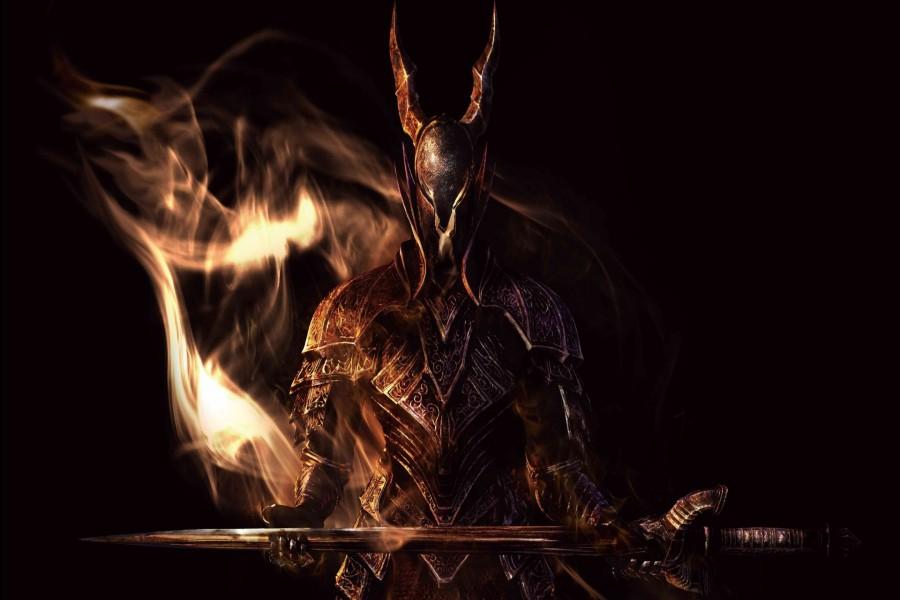Guerrero sosteniendo una espada (Dark Souls)
