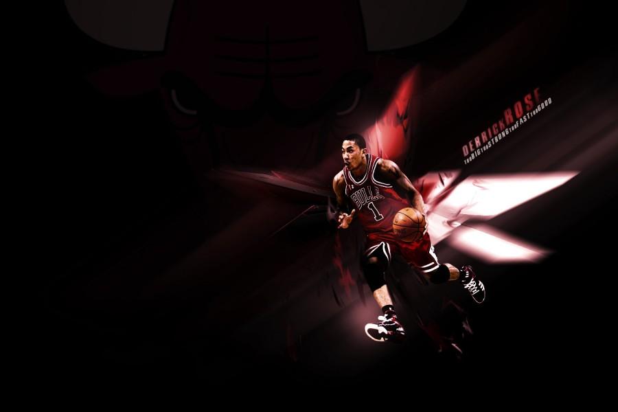 Derrick Rose con la camiseta de los Chicago Bulls