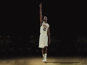 Kobe Bryant con la camiseta de la selección estadounidense