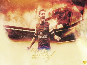 Mesut Ozil jugando en el Arsenal