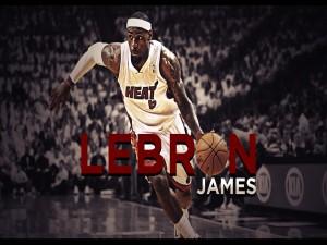 LeBron James en posesión de la pelota