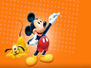 Mickey Mouse y Pluto