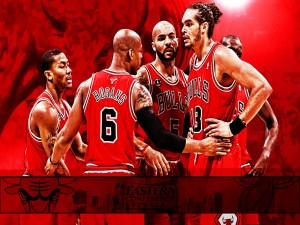 "Jugadores charlando ""Chicago Bulls"""