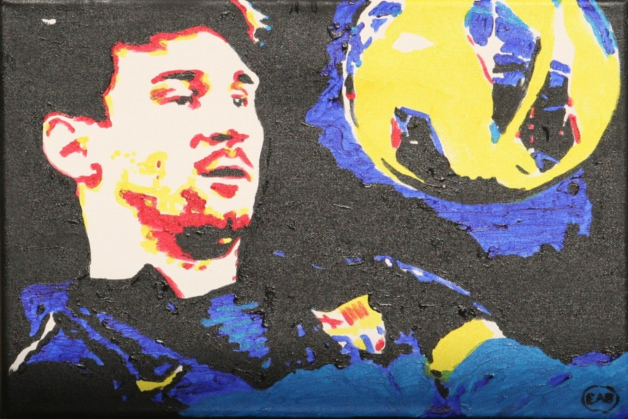 Pintura de Lionel Messi