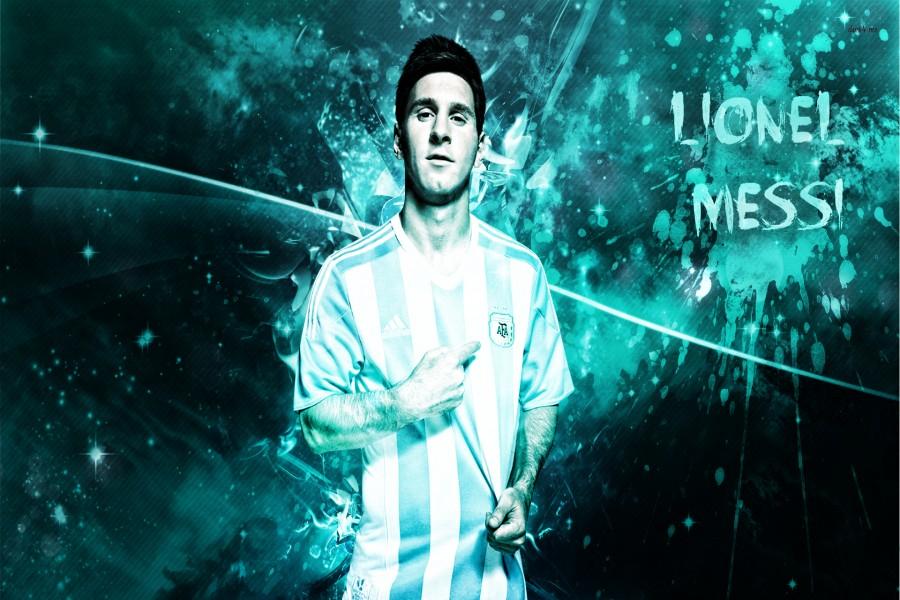 Lionel Messi con la camiseta de Argentina
