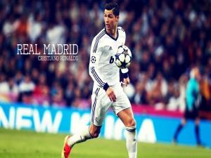 Cristiano Ronaldo jugando con el Real Madrid