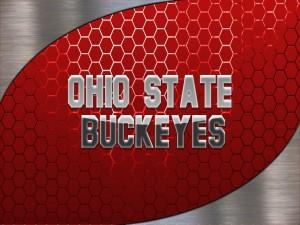 Ohio State Buckeyes en letras grises