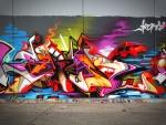Un colorido graffiti