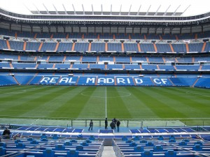 Visitando el estadio del Real Madrid