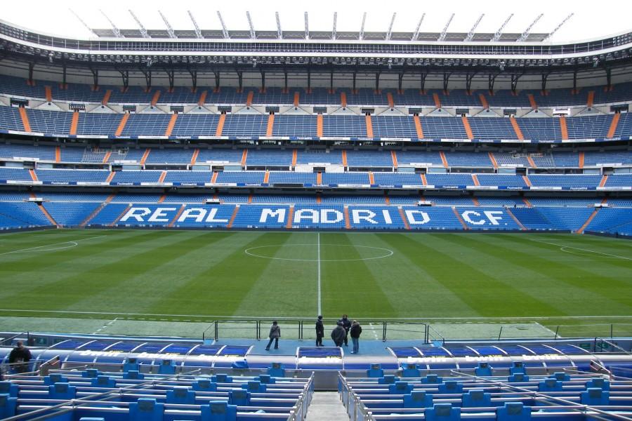 Visitando el estadio del Real Madrid