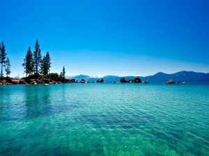 Las aguas del lago Tahoe