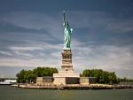 Contemplando la Estatua de la Libertad