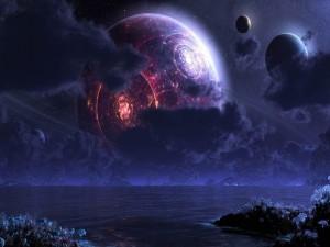 Círculos de fuego en un planeta