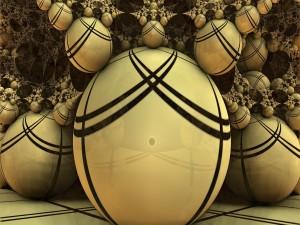 Imagen abstracta con varias esferas