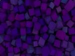 Varios cubos en distintas tonalidades de color púrpura