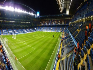 Interior del estadio del Chelsea Fútbol Club