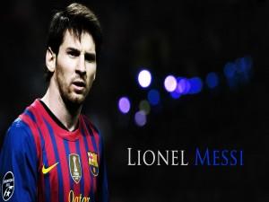 Lionel Messi con la camiseta del F.C. Barcelona