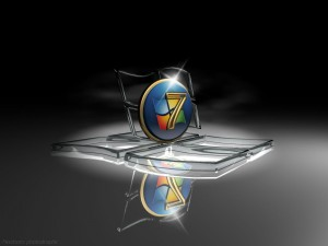Logo de Windows 7 reflejado