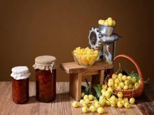 Compota de cerezas amarillas