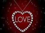 Collar con un corazón de diamantes