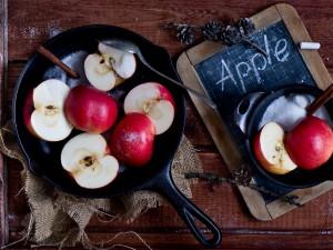 Manzanas preparadas para cocinar
