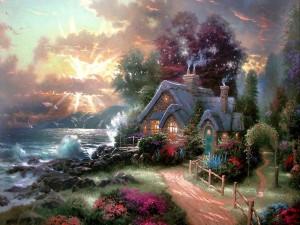 Impresionante casa a orillas del mar