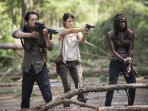 Michonne, Gleen y Maggie (The Walking Dead)