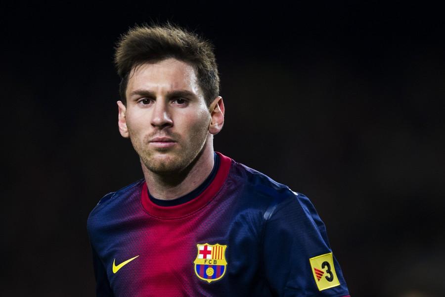 Lionel Messi jugando con el F.C. Barcelona