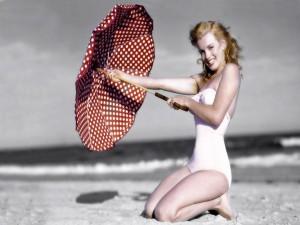 Marilyn Monroe en la playa