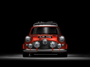 Mini Cooper de color rojo