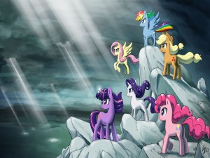 "Ponys sobre las rocas ""My Little Pony"""