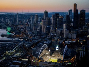 "Vista del estadio de ""Seattle Seahawks"""