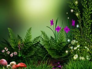Plantas y flores en el jardín