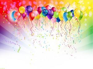 Coloridos globos