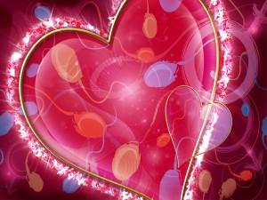 Corazón resplandeciente