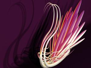 Líneas formando un cisne