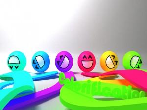 Smileys sonrientes y coloridos