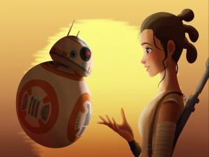 BB-8 y Rey (Star Wars: El despertar de la Fuerza)
