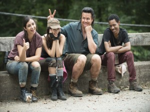 "Algunos actores de la serie ""The Walking Dead"""
