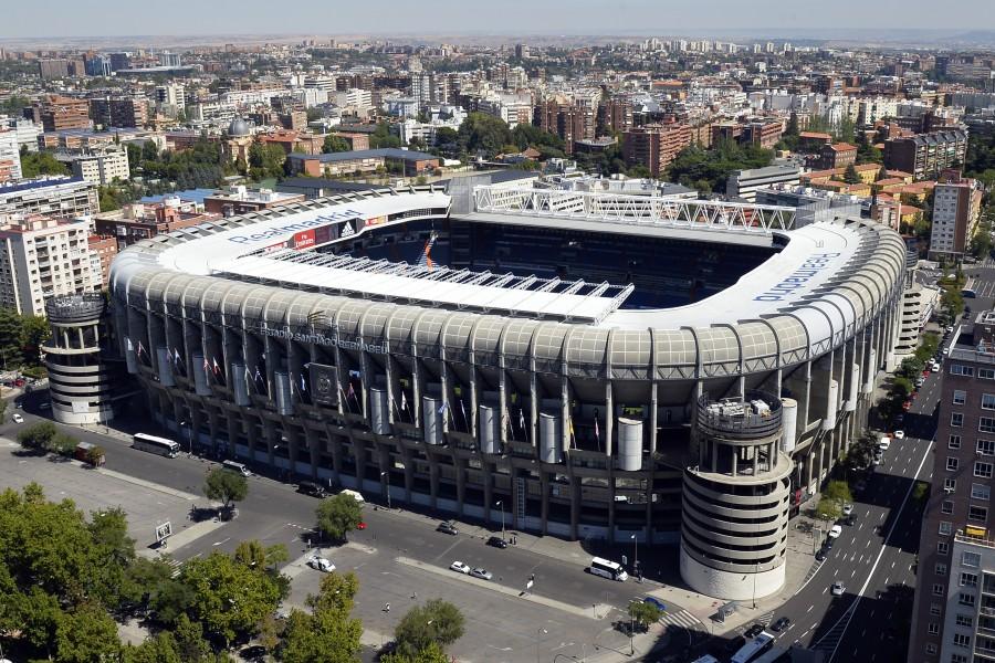 "Vista del estadio del Real Madrid ""Santiago Bernabeu)"