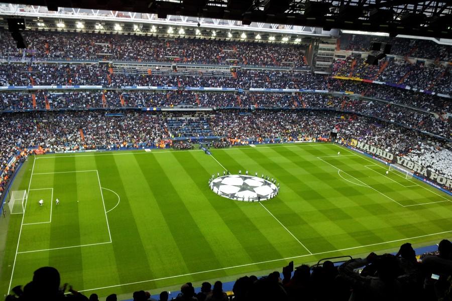 Partido en el estadio Santiago Bernabeu