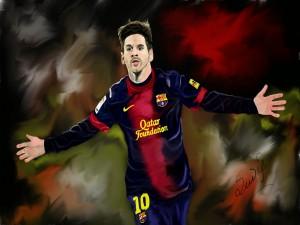 Imagen de Leo Messi jugando con el Barcelona
