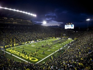 Partido de los Oregon Ducks