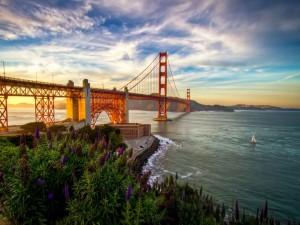 Hermosas vistas del puente de San Francisco